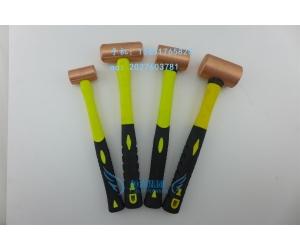 供应防爆紫铜圆柱锤加气站加油站用红铜榔头圆柱手锤