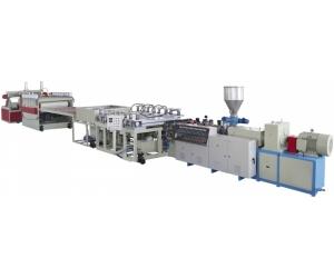 供应PVC结皮发泡板材生产线设备机器挤出机组塑料机械