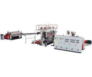供应PVC石塑(仿大理石)板生产线设备机器挤出机组塑料机械