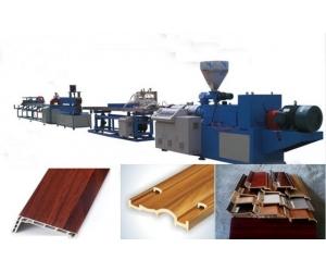 供应PVC仿大理石线条生产线设备机器挤出机组塑料机械