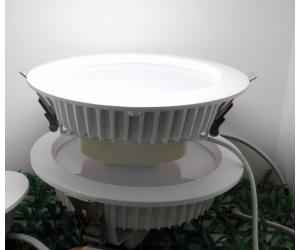LED筒灯外壳 压铸纯铝散热器配件 纯铝白色喷粉处理工艺