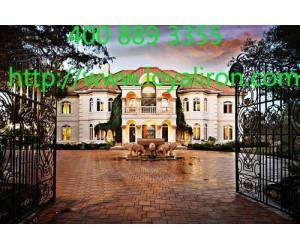 为什么豪华别墅多用铁艺大门?